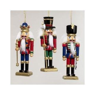 Kurt Adler Wooden Nutcracker Christmas Ornament, Set Of 3   Decorative Christmas Nutcrackers