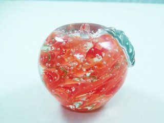 Murano Design Mouth Blown Glass Art Crystal Apple Handmade Art Glass Paperweight Pw 227   Home Decor Products
