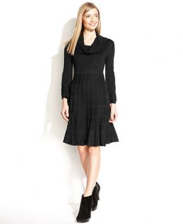 Calvin Klein Dress, Long Sleeve Knit Cowl Neck Sweater   Dresses   Women