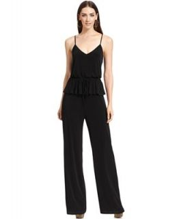 Jessica Simpson Sleeveless Peplum Wide Leg Jumpsuit   Dresses   Women