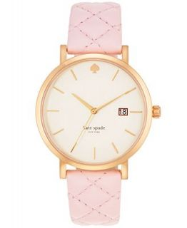 kate spade new york Womens Metro Grand Light Pink Quilted Leather Strap Watch 38mm 1YRU0356   Watches   Jewelry & Watches