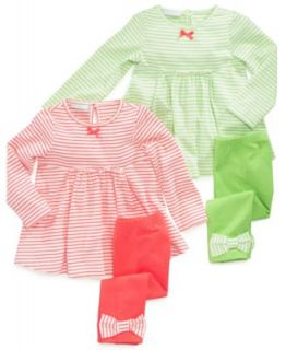 First Impressions Baby Set, Baby Girls 2 Piece Ruffle Dress and Leggings   Kids