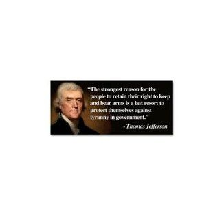 Thomas Jefferson Right To Bear Arms Quote Liberty Second Amendment Bumper Sticker Decal Automotive
