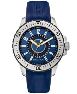 Nautica Mens Chronograph Navy Resin Strap Watch 45mm N14676G   Watches   Jewelry & Watches