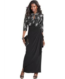 Alex Evenings Petite Sequin Gown and Jacket   Dresses   Women