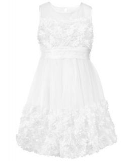 Bonnie Jean Kids Dress, Girls Satin Rosette Flower Girl Dress   Kids