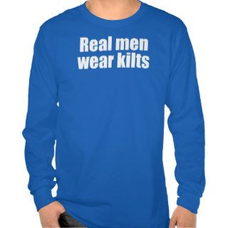 Real Men Wear Kilts Funny Scottish Bagpipe tee