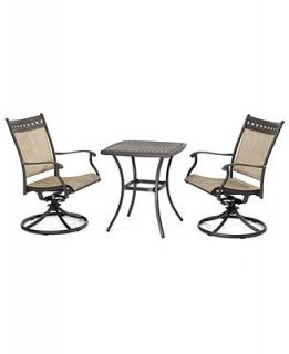 Vintage Outdoor 3 Piece Set 26 Square Dining Table and 2 Swivel Dining Chairs   Furniture