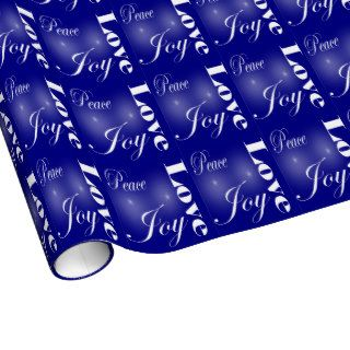 Peace Love Joy Christmas Holiday Gift Wrapping Paper