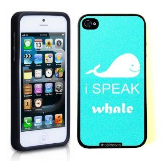 I Speak Whale   Protective Designer BLACK Case   Fits Apple iPhone 5 / 5S Cell Phones & Accessories
