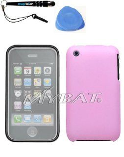 IMAGITOUCH(TM) 3 Item Combo APPLE iPhone 3GS 3G Pink Phone Hard Case Protector Faceplate Cover (with Lens) (WL SO202) (Stylus pen, Pry Tool, Phone Cover) Cell Phones & Accessories
