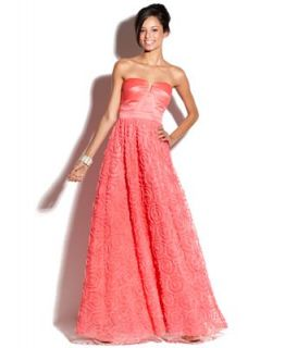 Hailey Logan Juniors Dress, Strapless Sweetheart Gown   Juniors Dresses