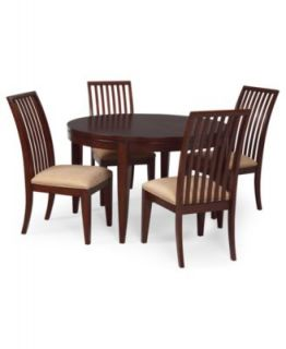Prescot Dining Room Furniture, 5 Piece Set (Round Table and 4 Panel Back Chairs)   Furniture