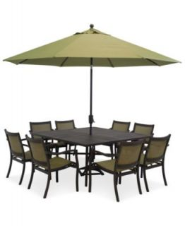 Paradise Outdoor 9 Piece Set 64 Square Dining Table and 8 Dining Chairs   Furniture