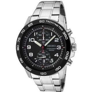 Seiko Men's SNN193P1 Chronograph Grey Dial Stainless Steel Watch Watches