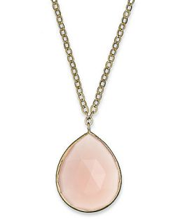 10k Gold Necklace, Pear Cut Pink Chalcedony Pendant (6 1/2 ct. t.w.)   Necklaces   Jewelry & Watches