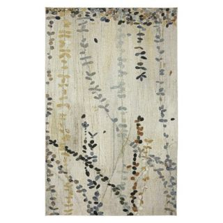 Mohawk Home Vines Area Rug   Blue/Cream (5x7)