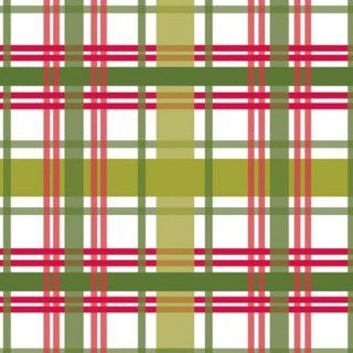 Club Pack of 192 Red and Green Christmas Plaid 3 Ply Party Beverage Napkins Cocktail Napkins Kitchen & Dining