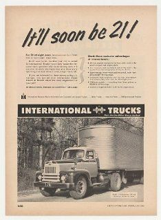1952 International Harvester L 195 Roadliner Truck Print Ad