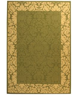 Safavieh Rugs, Indoor/Outdoor Courtyard 200 Olive/Natural   Rugs
