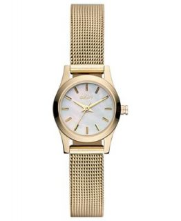DKNY Watch, Womens Gold Ion Plated Stainless Steel Mesh Bracelet 20mm NY8643   Watches   Jewelry & Watches