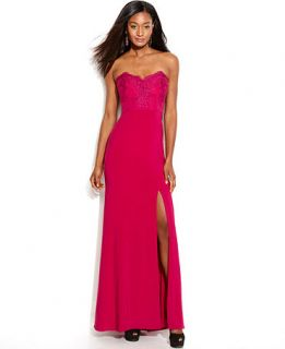 JS Boutique Strapless Lace Gown   Dresses   Women