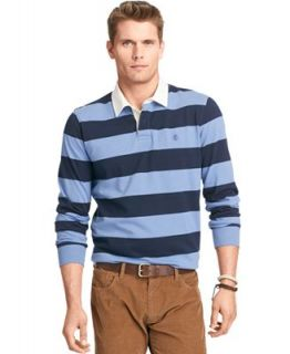 Izod Shirt, Long Sleeve 50/50 Striped Rugby Polo   Polos   Men