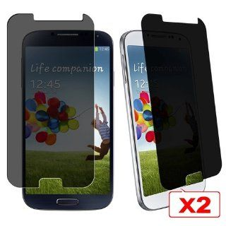 CommonByte 2x 180° Privacy Anti Spy LCD Screen Protector For Samsung Galaxy S4 SIV i9500 Cell Phones & Accessories