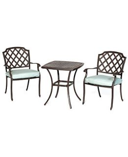 Nottingham Outdoor Patio Furniture, 3 Piece Set (26 Square Dining Table and 2 Dining Chairs)   Furniture