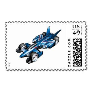 Blue Hot Wheels Racing Car Stamp