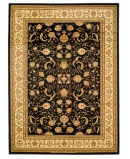 MANUFACTURERS CLOSEOUT Safavieh Area Rug, Chelsea HK310B Rose Black 6 x 9   Rugs