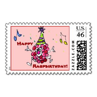 Happy Birthday Funny Cartoon Berry Custom Stamps
