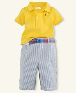 Ralph Lauren Baby Set, Baby Boys Seersucker Pant Set   Kids