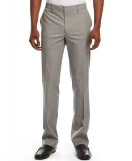 Kenneth Cole Reaction Flat Front Striped Dress Pants   Pants   Men