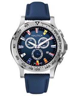 Nautica Watch, Mens Chronograph Navy Polyurethane Strap 46mm N19597G   Watches   Jewelry & Watches