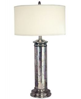 Dale Tiffany Table Lamp, Silver Art Glass   Lighting & Lamps   For The Home