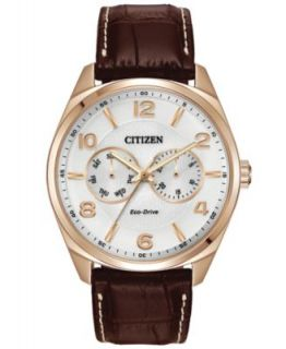 Citizen Mens Chronograph Black Leather Strap Watch 44mm AN3512 03P   Watches   Jewelry & Watches
