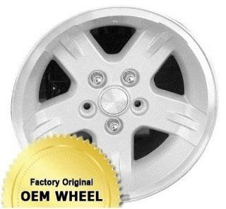 JEEP WRANGLER 15X8 5 SPOKE Factory Oem Wheel Rim  MACHINE LIP SILVER   Remanufactured Automotive