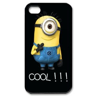 Smartphone DIY Hybrid Cellphone Cases for iPhone 4,4S Unique Minion Style 12638 Cell Phones & Accessories