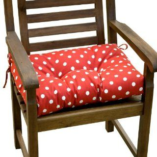 Greendale Home Fashions Outdoor Gliding Chair Cushion, Patriotic Polka Dot   Patio Furniture Cushions