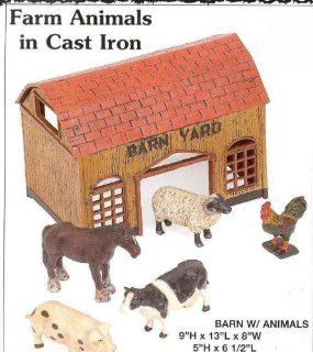 Farm Set with Barn and Animals   Toy Figure Playsets