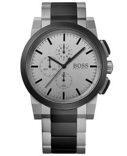 Hugo Boss Mens Chronograph Neo Two Tone Stainless Steel Bracelet Watch 46mm 1512959   Watches   Jewelry & Watches