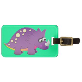 Cute Cartoon Dinosaur Travel Bag Tag