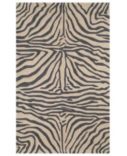 Liora Manne Area Rug, Seville 9634/12 Zebra Border Neutral   Rugs