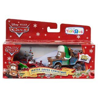 Disney / Pixar CARS Movie 155 Die Cast Holiday 2011 Exclusive Story Tellers Collection 2Pack Mater Saves Christmas Snowplow Lightning McQueen WheeHoo Winter Mater Toys & Games