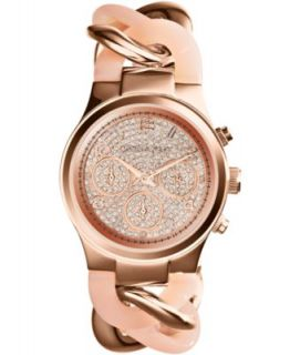 Michael Kors Womens Chronograph Runway Twist Rose Gold Tone Stainless Steel Bracelet Watch 38mm MK3247   Watches   Jewelry & Watches