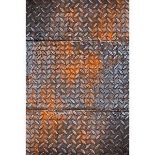 Photography Weathered metal plate Background Mat Cf1949 Rubber Backing, 4'x5' High Quality Printing, Roll up for Easy Storage Photo Prop Carpet Mat (Can Be Used for Decorating Home Also)  Photo Studio Backgrounds  Camera & Photo