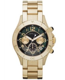 Marc by Marc Jacobs Watch, Unisex Chronograph Black Silicone Wrapped Rose Gold Tone Stainless Steel Bracelet MBM2553   Watches   Jewelry & Watches