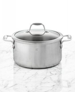 J.A. Henckels Zwilling Spirit Polished Stainless Steel 4 Qt. Covered Saucepan   Cookware   Kitchen