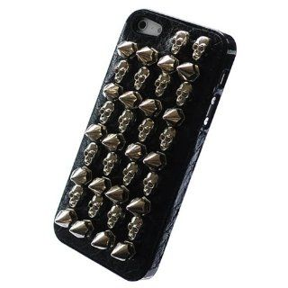 Bfun Black Cool 3D Skull Rivet Hard Cover Case for Apple iPhone 5 5G AT&T Verizon Sprint Cell Phones & Accessories